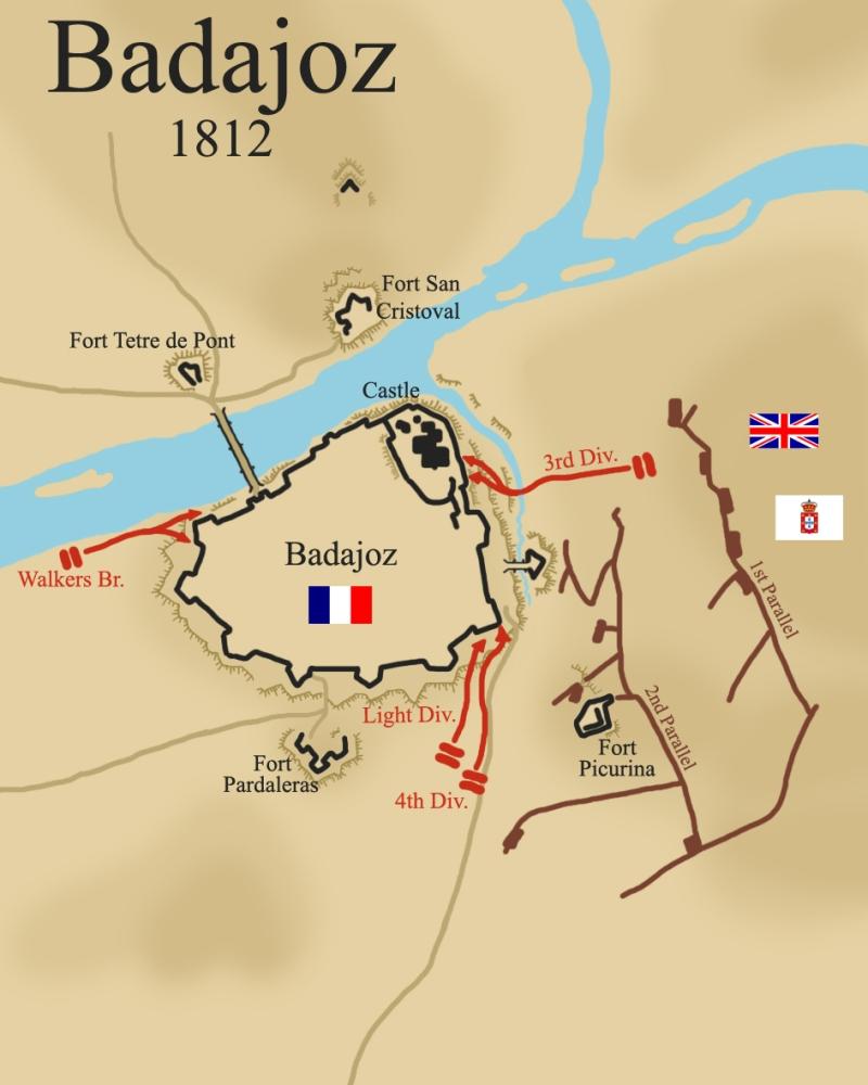 The Siege of Badajoz, 1812. (1/5)