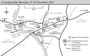 Source: http://en.wikipedia.org/wiki/File:Battle_of_Berezina_map.jpgGregory Fremont-Barnes (main editor) - The Encyclopedia of the French Revolutionary and Napoleonic Wars, page 137. Adapted from Chandler 1966, 840.