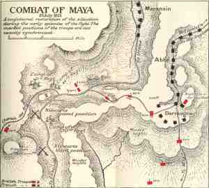 Battle of Maya. Source: http://www.napoleon-series.org/images/military/maps/peninsula/maya.jpg