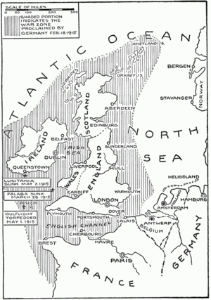 Source: http://en.wikipedia.org/wiki/U-boat_Campaign_(World_War_I)#mediaviewer/File:German_Submarine_Zone_February_1915_SGW_Vol_V.png