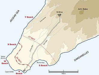 Cape Helles Landing Source: